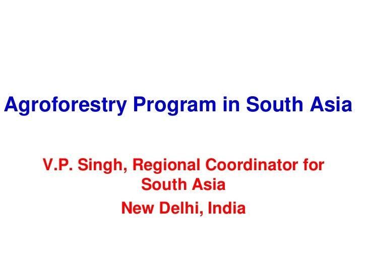 South asia program focus