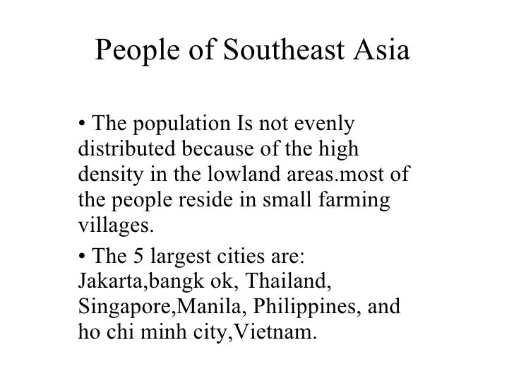 Southeast Asian People People of Southeast Asia