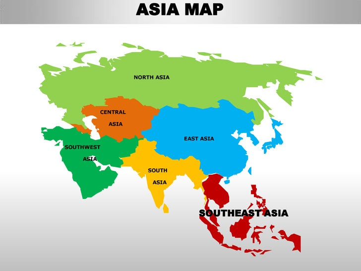 asia map north asia central asia east