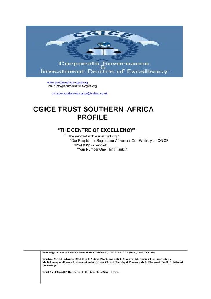 Southern Africa Cgice Trust  Profile Fd