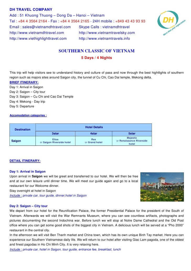 Southern Classic Of Vietnam 5 Days   4 Nights