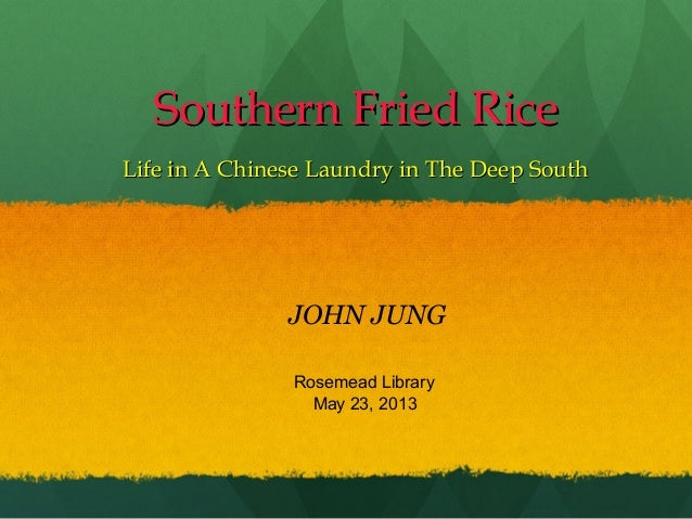 Southern Fried RiceSouthern Fried RiceLife in A Chinese Laundry in The Deep SouthLife in A Chinese Laundry in The Deep Sou...