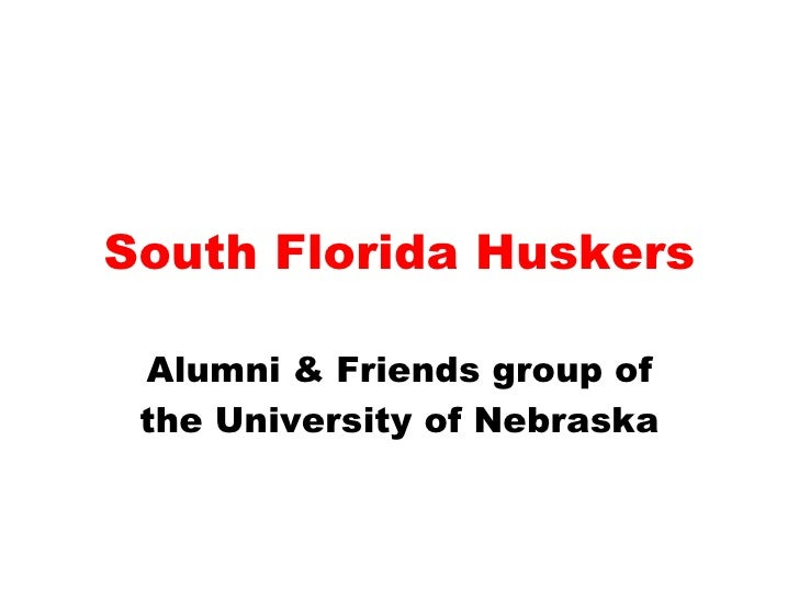 South Florida Huskers Alumni & Friends group of the University of Nebraska