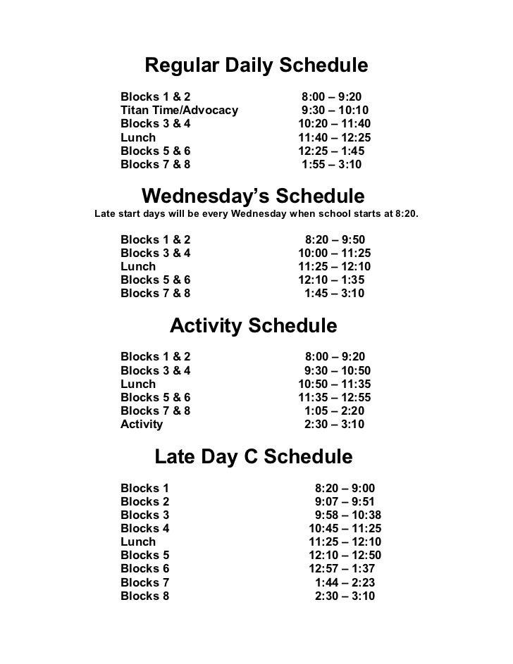 Daily School Agenda  Printable Editable Blank