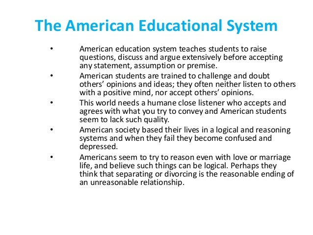 americas failing educational system America's education problem sarah  must recognize that its long-term growth depends on dramatically increasing the quality of its k-12 public education system.