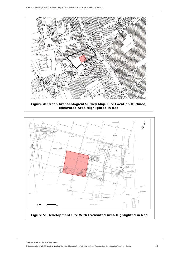 Archaeological Survey Report Archaeological Survey Map
