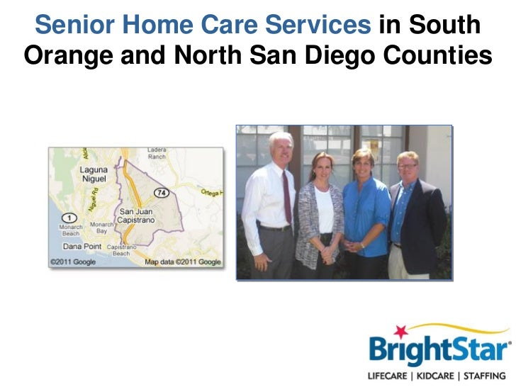 Senior Home Care Services in SouthOrange and North San Diego Counties
