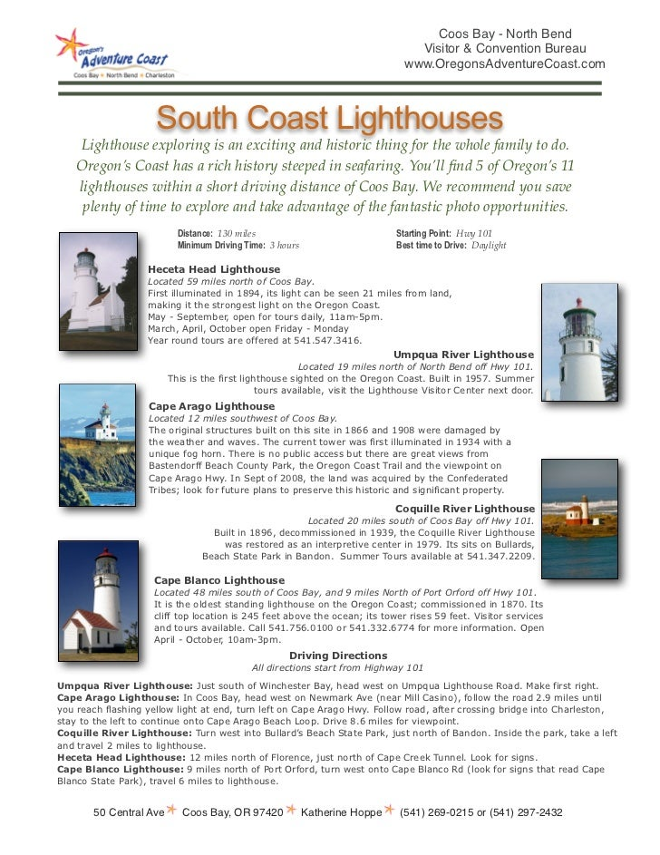 South oregon coast lighthouses tour