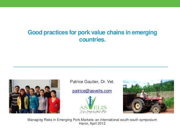 Good practices for pork value chains in emerging countries