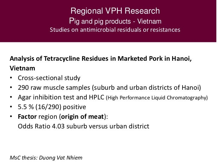 Masters thesis veterinary public health