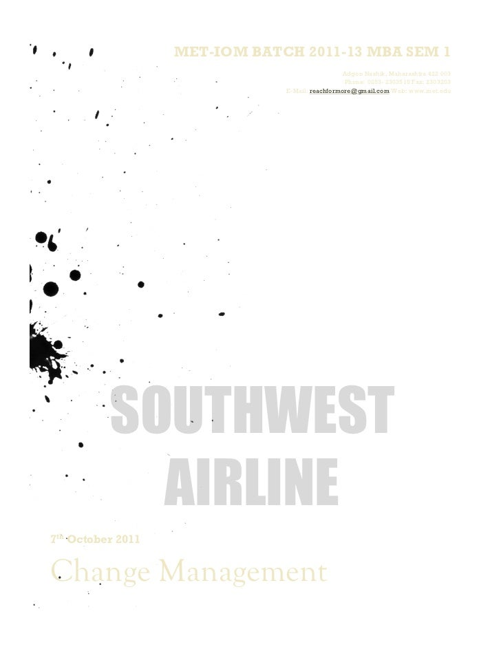 Southwest airline compiled project report