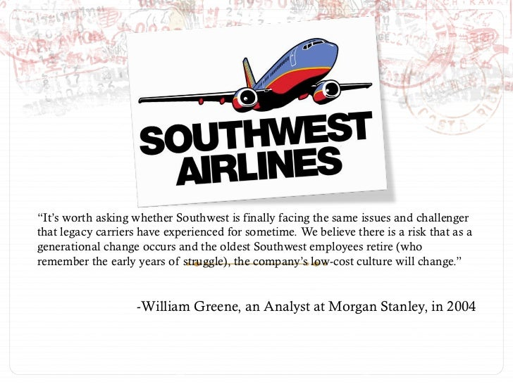 southwest airlines in a different world case analysis harvard business