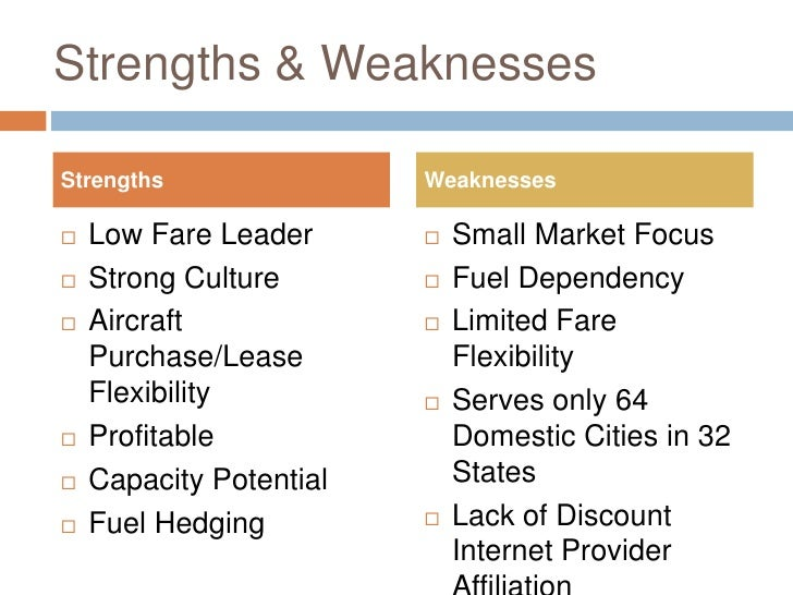 swot southwest airlines Find the latest and comprehensive swot and pestle analysis of southwest airlines, the world's largest low-cost airline based out of dallas, united states.