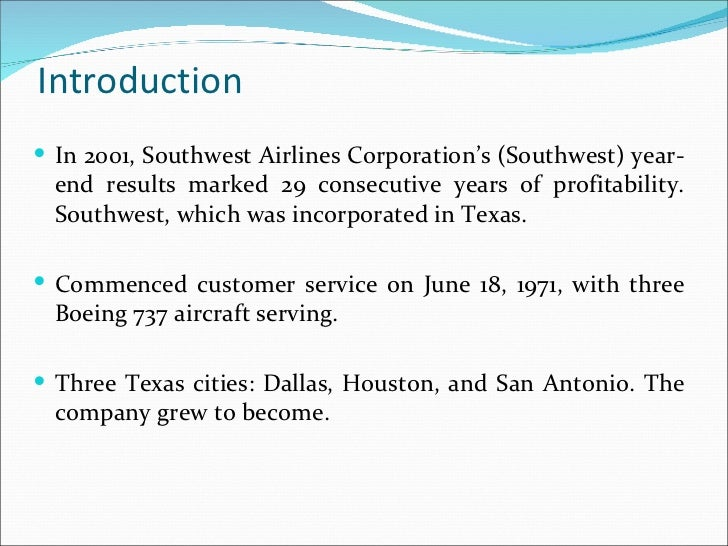 case study management at southwest airlines Positioning southwest airlines through employee branding sandra jeanquart miles, w glynn mangold department of management, marketing, and business administration.