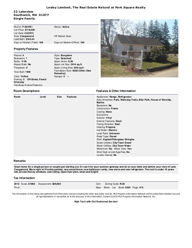 Lesley Lambert, The Real Estate Natural at Park Square Realty The information in this listing was gathered from third part...