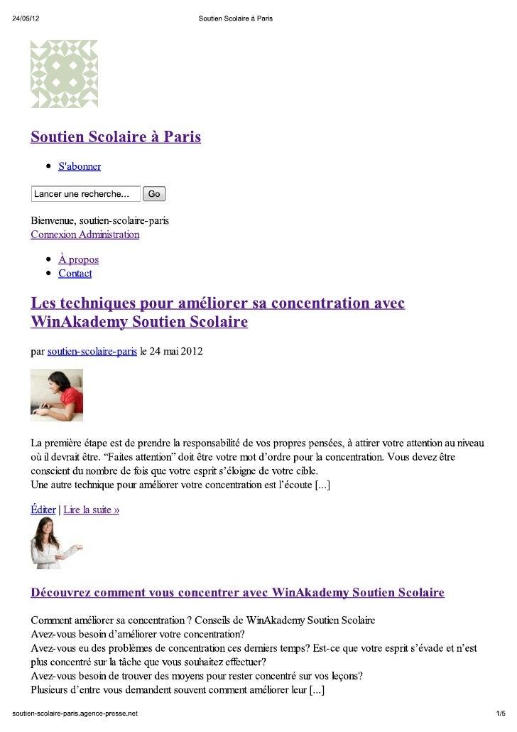 Soutien Scolaire à Paris