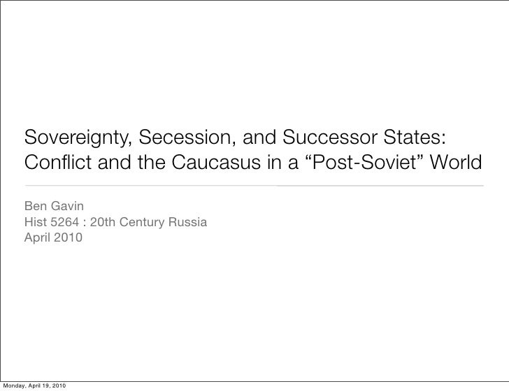 Sovereignty, Secession, and Successor States
