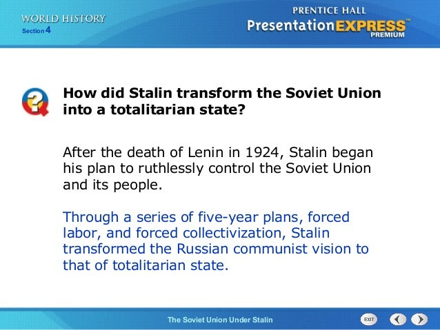soviet unions agriculture saw demise under stalins five year plan Nor did the state fulfil its promise to supply 100 000 tractors by the end of the five-year plan  the ussr under stalin, 1924 to 1941  soviet agriculture and.