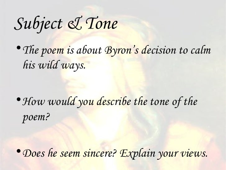 so we'll go no more a roving Lord byron's 'so we'll go no more a roving' remains a powerful and sad commentary on something that many will experience here is a analysis of the poem.