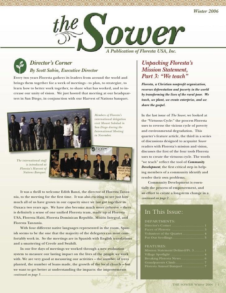 Winter 2006                                                                                          A Publication of Flor...