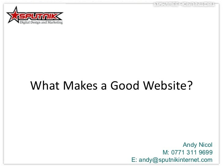 what makes a good website February 2011 North Manchester