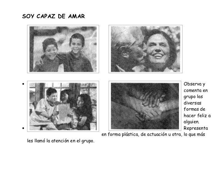 SOY CAPAZ DE AMAR•                                                                                Observa y               ...