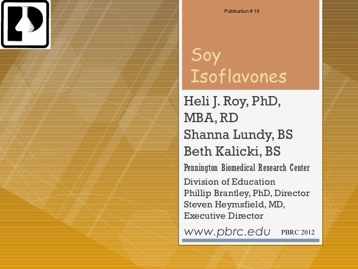 Health benefits of soy isoflavones
