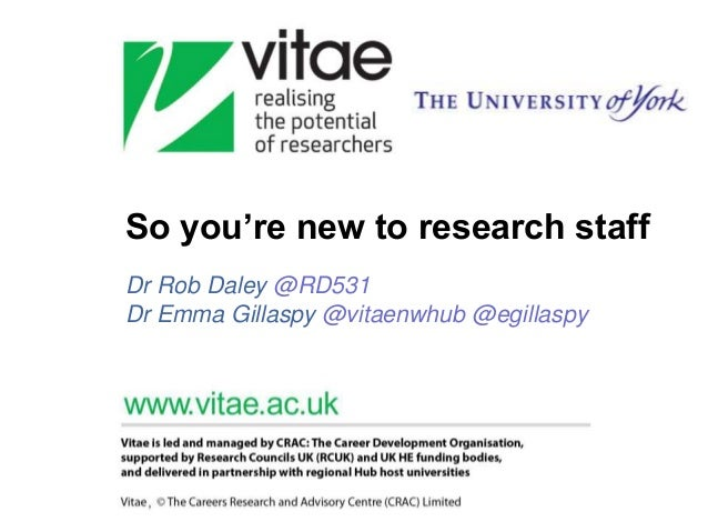 So you're new to research staff Dr Rob Daley @RD531 Dr Emma Gillaspy @vitaenwhub @egillaspy