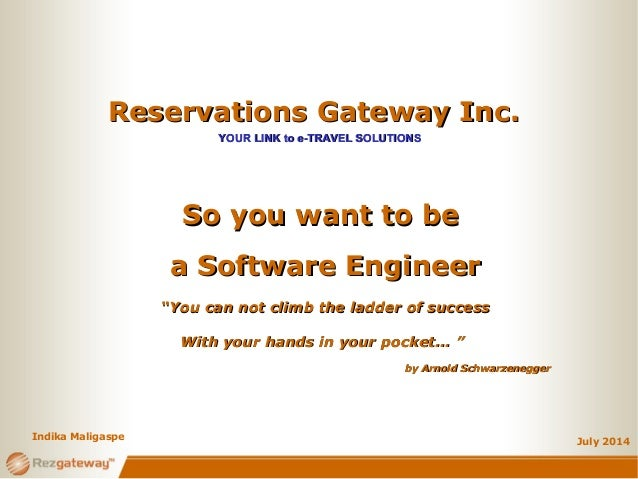 Reservations Gateway Inc.Reservations Gateway Inc. YOUR LINK to e-TRAVEL SOLUTIONSYOUR LINK to e-TRAVEL SOLUTIONS July 201...