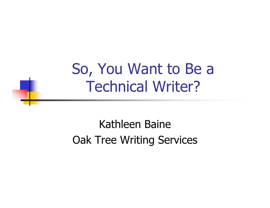 Technical writer services