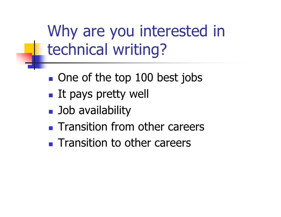 Technical writing career path