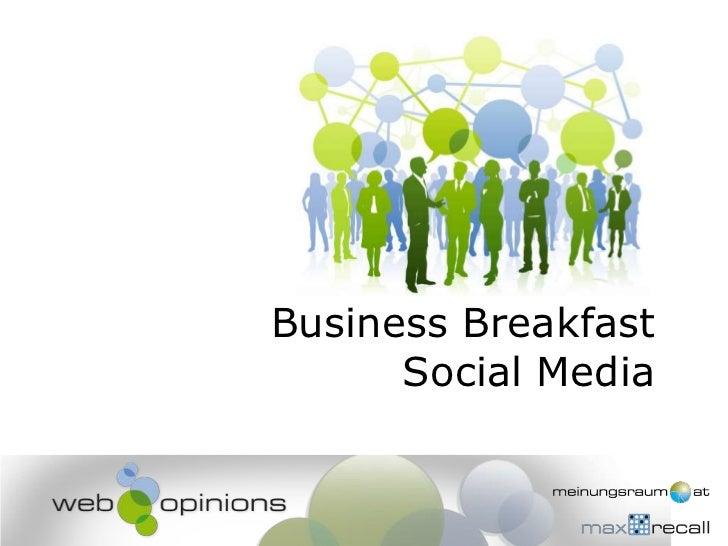Business BreakfastSocial Media<br />