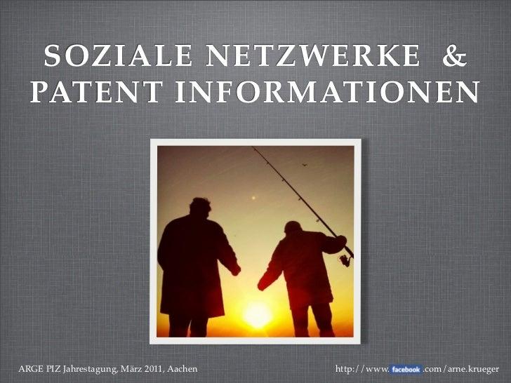 Soziale Netzwerke & Patent Informationen