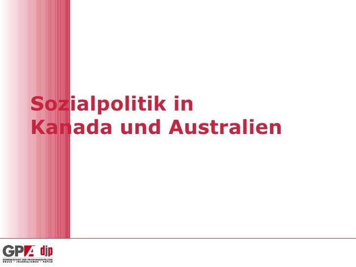 Sozialpolitik Kanada Und Australien