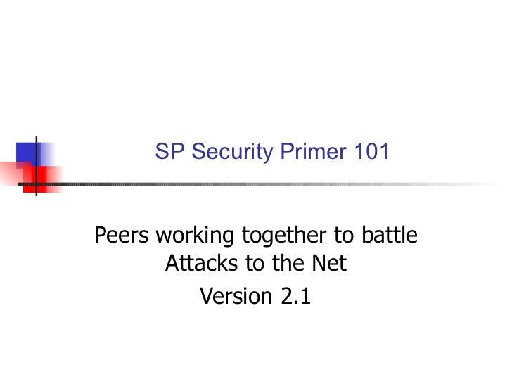 Sp Security 101 Primer 2 1