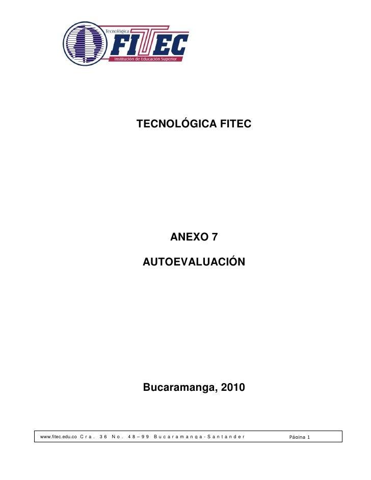 TECNOLÓGICA FITEC                                                      ANEXO 7                                           A...