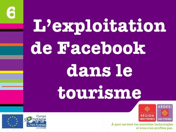 L'exploitation de Facebook  dans le tourisme 6
