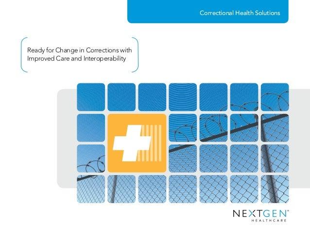 NextGen® Solutions for Correctional Health