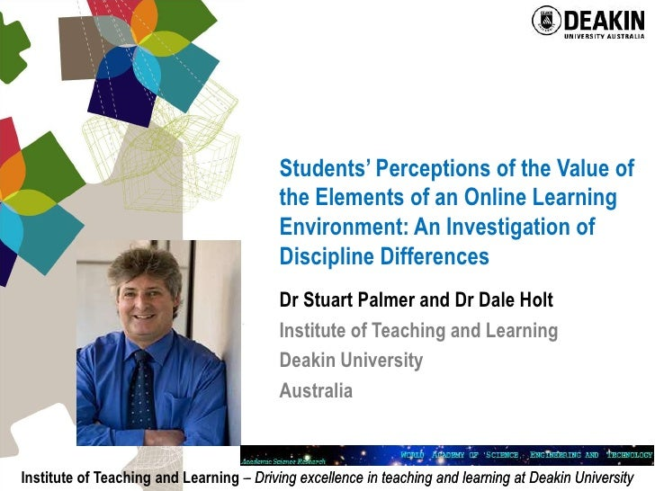 Students' Perceptions of the Value of the Elements of an Online Learning Environment: An Investigation of Discipline Diffe...