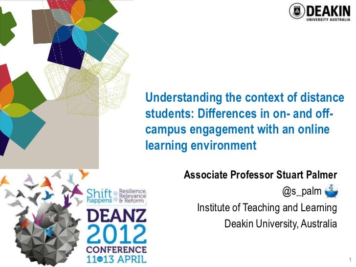 Understanding the context of distancestudents: Differences in on- and off-campus engagement with an onlinelearning environ...