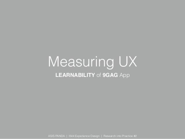 Measuring UX - A quantitative study