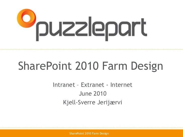 SharePoint 2010 farm architecture design infrastructure