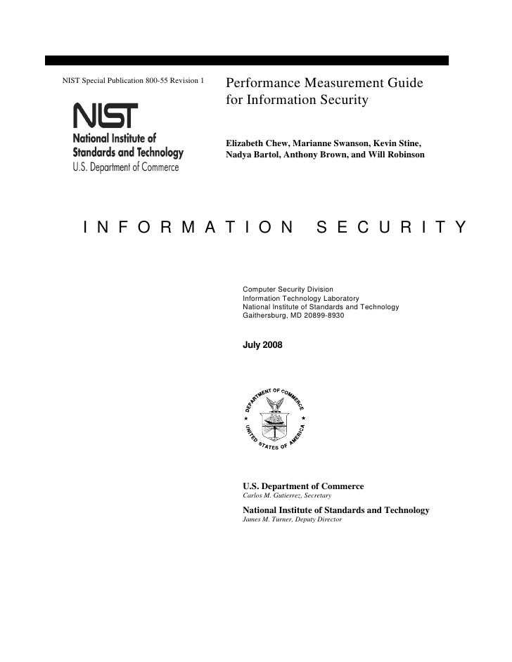 Sp800 55 Rev1   Performance Measurement Guide For Information Security
