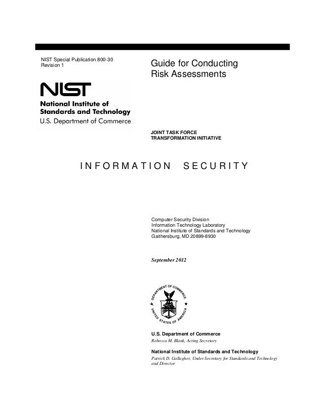 I N F O R M A T I O N S E C U R I T Y Computer Security Division Information Technology Laboratory National Institute of S...