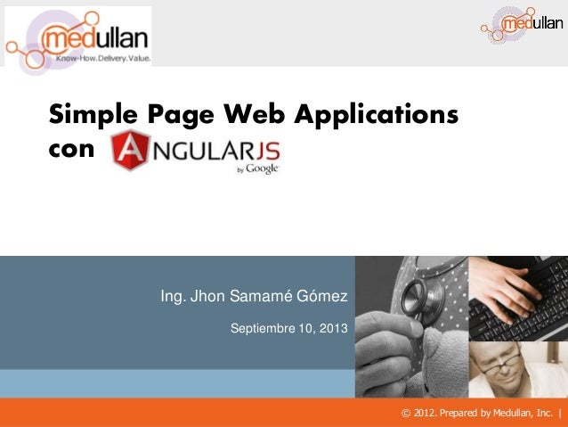 Angularjs y Simple Page Applications