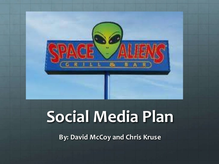 Social Media Plan<br />By: David McCoy and Chris Kruse<br />