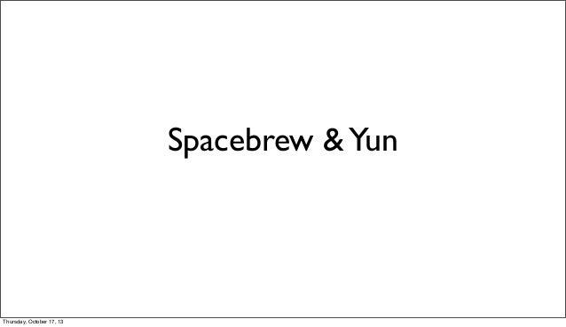 Spacebrew & Arduino Yún