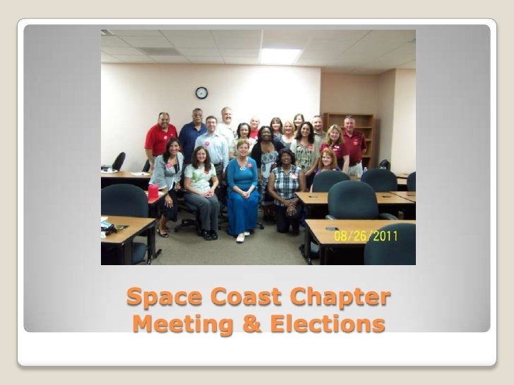 Space Coast Chapter Elections