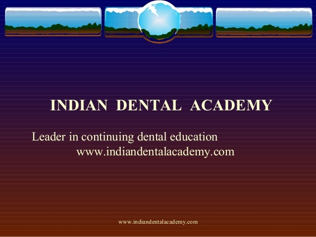 Space gaining /certified fixed orthodontic courses by Indian dental academy