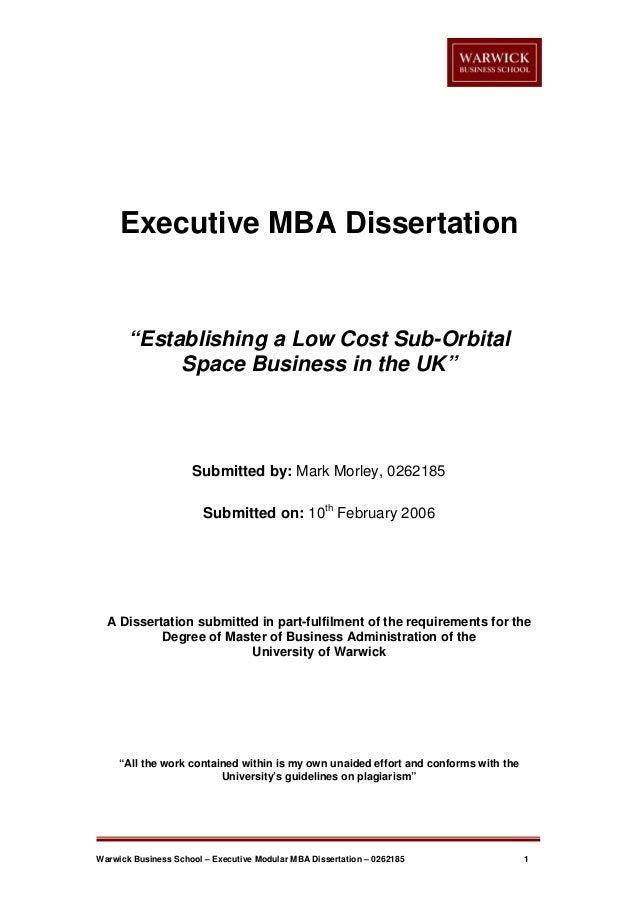 mba dissertation samples